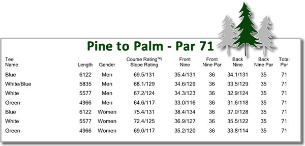 Pine to Palm golf course slope.